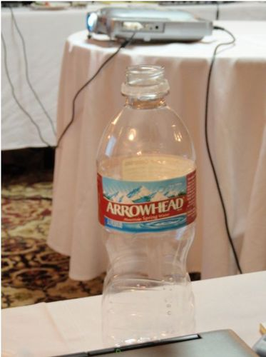 Water bottle and projector - Dec 7, 2009